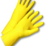 YellowLatexDishwashingGlovesL